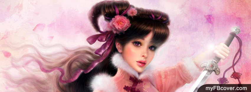 Cute Warrior Girl Facebook Covers | Timeline Covers | FB Covers